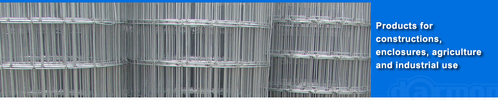 Wire mesh, woven and welded mesh producer, galvanized and barbed wire, construction nail distributor
